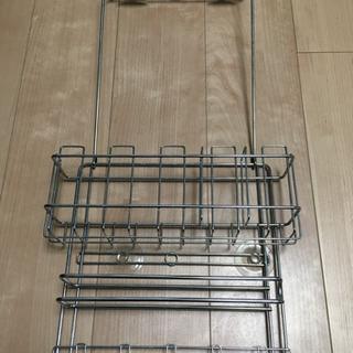 冷蔵庫サイド収納ラック 吸盤タイプ
