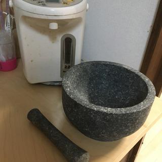 木製おひつ、石臼