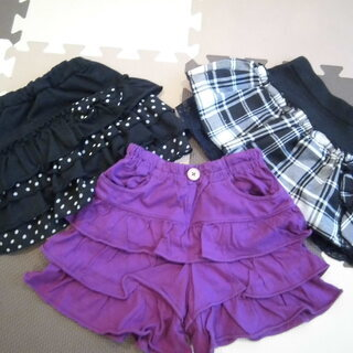 女の子 100センチ スカート&キュロット(3枚)(投稿管理番号...
