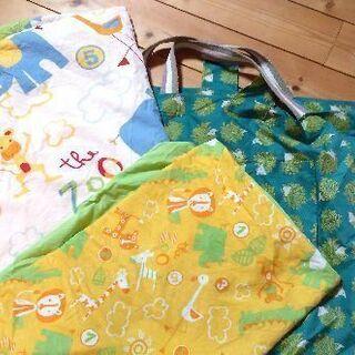 保育園 お昼寝布団 布団カバー、バッグ付き