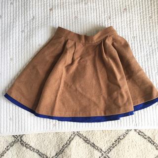 シップス スカート バイカラー ブラウン SHIPS