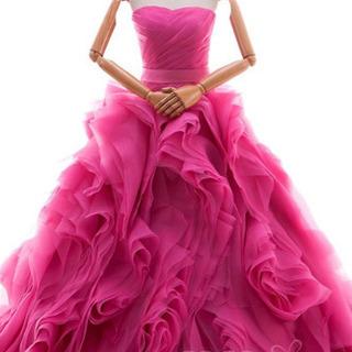 ウエディングドレス カラードレス プリンセスライン ブルードレス