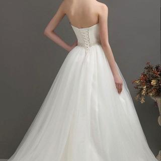 ウエディングドレス 花嫁 アイボリードレス 結婚式ドレス