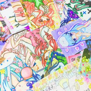 漫画 アニメ 萌え 美少女 手描きイラスト アナログイラスト 似...