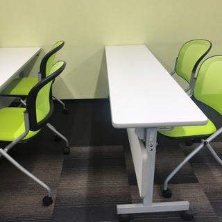 会議テーブル キャスター付 折り畳み W1500×D600×H7...