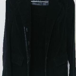 OZOC黒ベロアスーツ