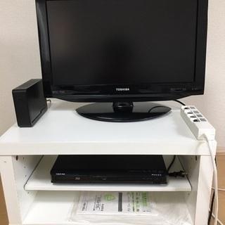 テレビREGZA22型/ブルーレイプレイヤー/外付けHD/テレビ...