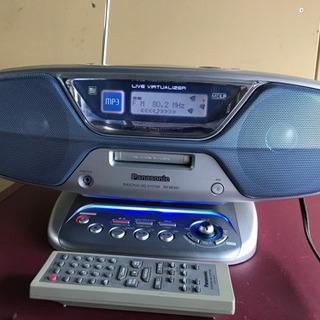 パナソニック パーソナルMDシステム CD ラジオ リモコン付属