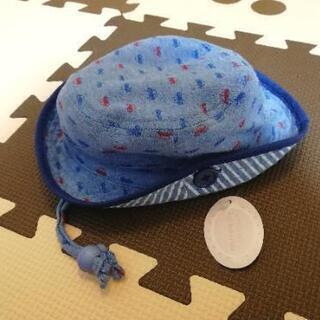 新品 ハット 帽子 車 ブルー 44cm