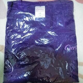 ★★新品セット!!「Curves(カーブス)」オリジナルの紫色Tシャツ&丈夫な二重底のトートバッグ★★ - 萩市