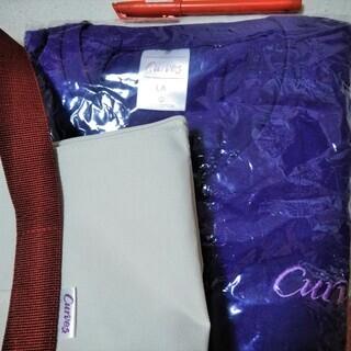 ★★新品セット!!「Curves(カーブス)」オリジナルの紫色Tシャツ&丈夫な二重底のトートバッグ★★ - 売ります・あげます