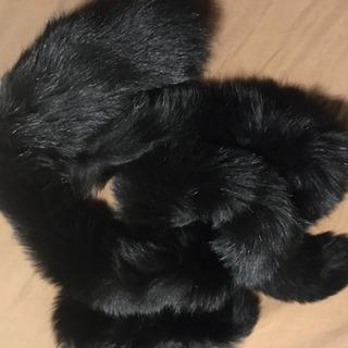 ファイクフェー(フェイクファー)黒