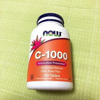 ビタミンC-1000 サプリ ローズヒップ配合 NOW Food...