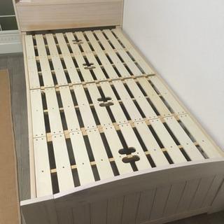 【取引決定】コンセント付き 木製ベッドフレーム