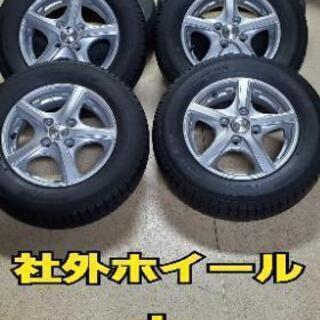 軽自動車に13インチ社外アルミホイール+スタッドレスセット!14...