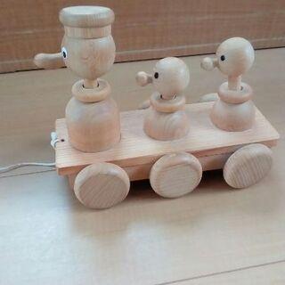 中古品 木製アヒルのおもちゃ