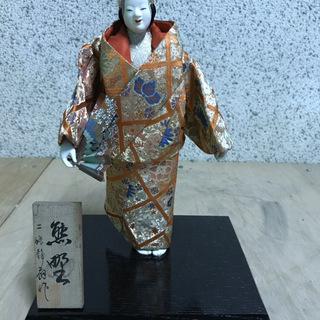 日本人形 二條静扇作「熊野」 能 置物