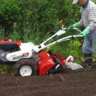 畑機械で耕します 草刈りします