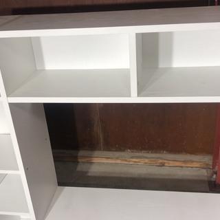 棚付きテレビ台 ホワイト - 家具