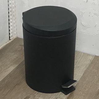 ペダル式ごみ箱 マットブラック2