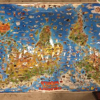 値下げしました‼️子供世界地図