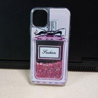 iPhone11対応 キラキラ グリッターケース 香水