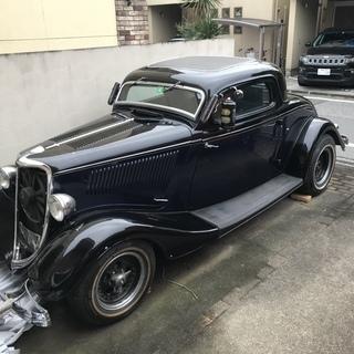 1933年のFORD DFUCE COUPE現車を引き取りに来て...