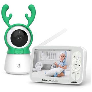 ベビーモニター 遠隔監視カメラ 双方向音声通信 暗視機能付き 見...