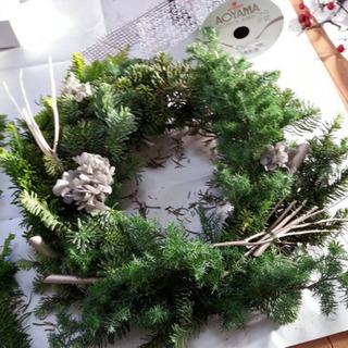 五穀豊穣と幸福の願い魔除けクリスマスリースを一緒に作りませんか?...