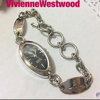 ヴィヴィアンウエストウッド  プレート&ブレス腕時計★電池交換済み