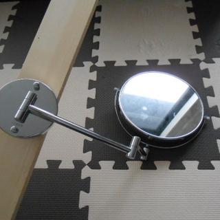 おまけ多数 伸縮折りたたみアームミラー 片面拡大鏡 天井との突っ...
