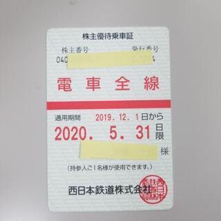 [最終値下]西鉄電車 6ヶ月定期 株主優待乗車証