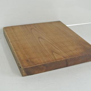 一枚板 古い将棋盤 1.2寸 小型 アンティーク 古道具 昭和レトロ
