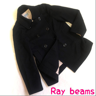美品 レディース Mサイズ コート  黒 ブラック レイビ…