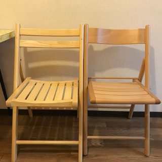 【差し上げます】折り畳み椅子 2脚