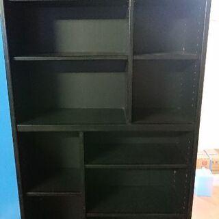 本棚 ブラック やや傷、汚れあり