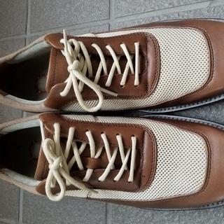 靴 歩きやすい カジュアル メンズシューズ 25.5cm