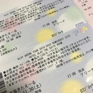 GLAY グレイ ライブ 北海きたえーる チケット 連番 2枚