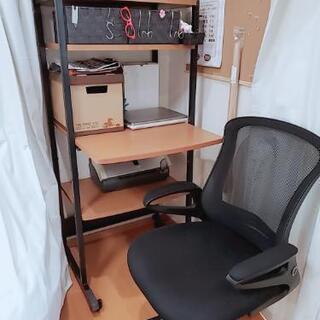 パソコンデスクとワークチェアのセット