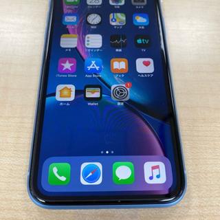新品同様 iPhone XR 64GB ブルー SIMフリー 判定○