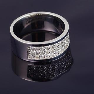 Pt900 ダイヤモンド リング ハート&キューピット 品番6-751