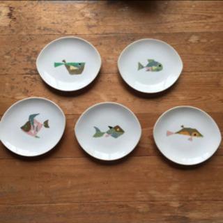 ナルミ食器 魚の絵柄皿 5枚セット
