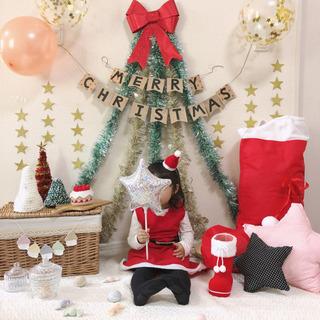 サンタさんカチューシャを編んで写真を撮ろう