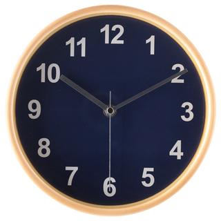 掛け時計 プライウッド Φ22cm ネイビー《未使用 新品》