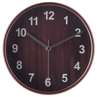 掛け時計 プライウッド Φ22cm ブラウン《未使用 新品》