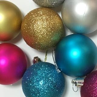 クリスマス オーナメント ボール 6cm 24個 4色セット 金...