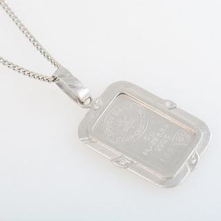 Pt900/850 プラチナインゴット・ダイヤモンド ネックレス...