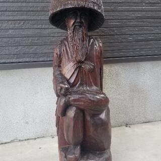 木製 修行僧像   高さ88cm