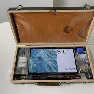 【未使用品】クサカベ 油絵具一式 木箱セット OW