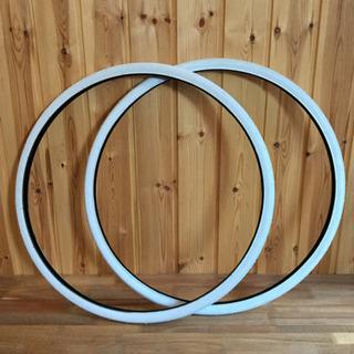 700x28c ホワイト カラータイヤ2本